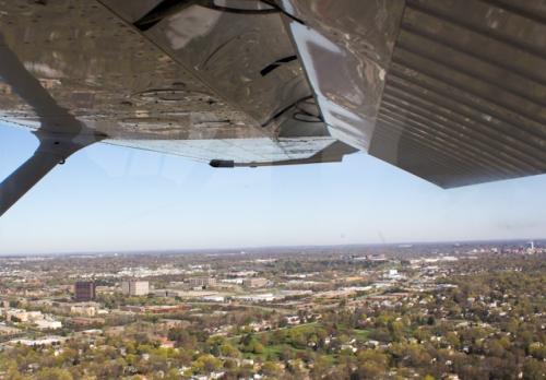 Landing Ann Arbor Airport
